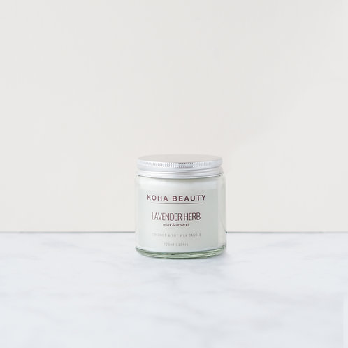 Lavender Herb Soy wax candle