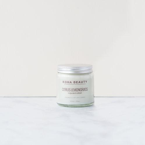 Citrus Lemongrass Soy wax candle