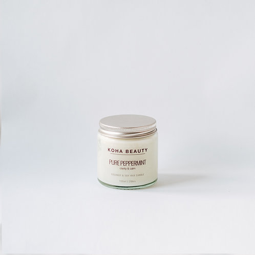 Pure Peppermint Coconut & Soy wax candle