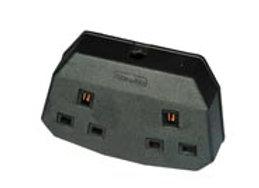 13 amp Twin Outlet Trailing Socket - Permaplug