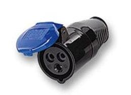 16 amp 3 pin 240V Socket - Black