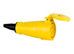 16 Amp 4 pin CEE Cable Socket Female - Yellow
