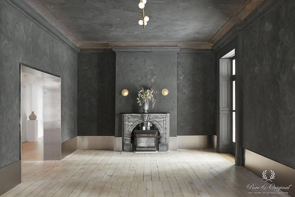 Black Smoke-Fresco lime paint-Niamh Barr