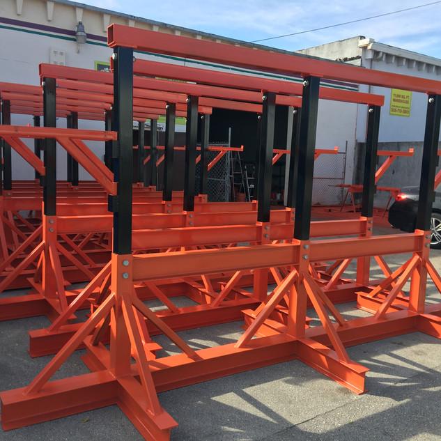 Orlando airport - Steel stands