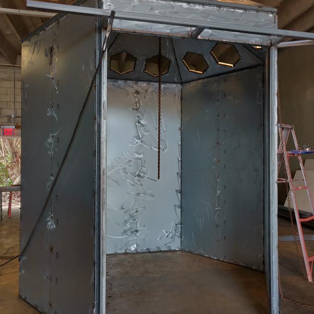Custom steel cabin