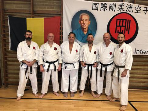 AKA members with Shihan James and Sensei Keith at Wokingham Gasshuku November 2019