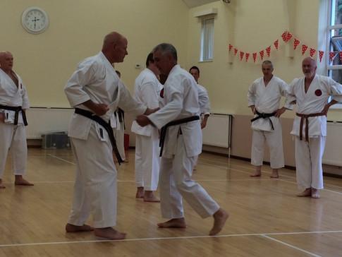 Sensei John at Senior Training