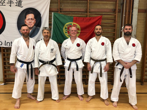 Sensei Campos with AKA & James from Wokingham