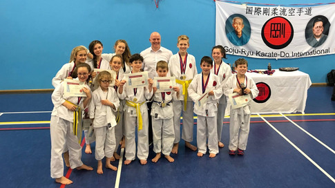 AKA National GKI competitors and medal winners at Ashlyns in 2017