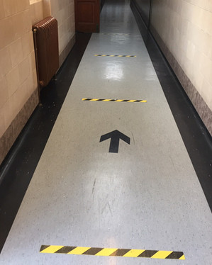 One way system when entering the building