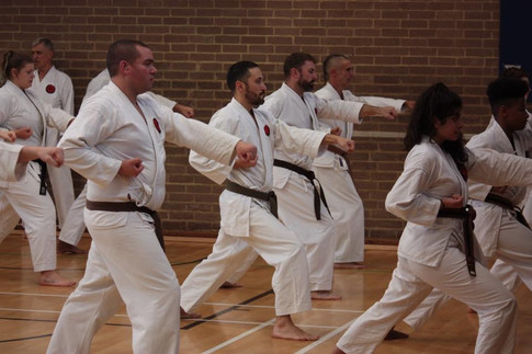 Lloyd & Jorge being taught by Sensei Kevin at the Wokingham Gasshuku 2019