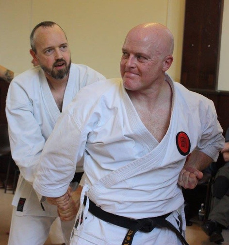 Sensei John training with Wouter (4th Dan) in Birmingham 2017