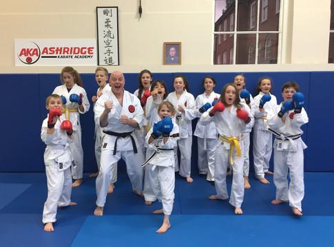 Kids Kumite class May 2017