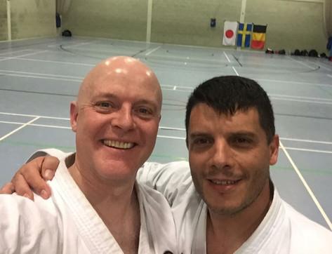 Sensei John with Sensei Marco Cruz (6th Dan) from Portugal in Birmingham 2017