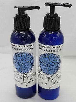 Shampoo & Conditioner Set-Refreshing Tea Tree 8oz