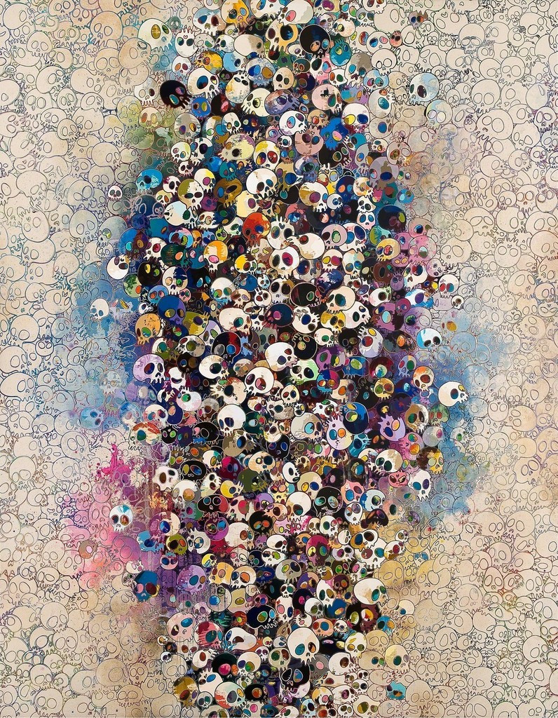 Who's Afraid Of Red, Yellow, Blue And Death, 2010, Takashi Murakami