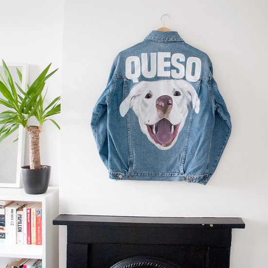 Children's Custom Pet Portrait Hand Painted Denim Jacket - Own Jacket