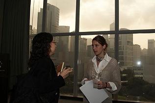 Sibylle Denis conférence de presse à Hong Kong World Trade Center