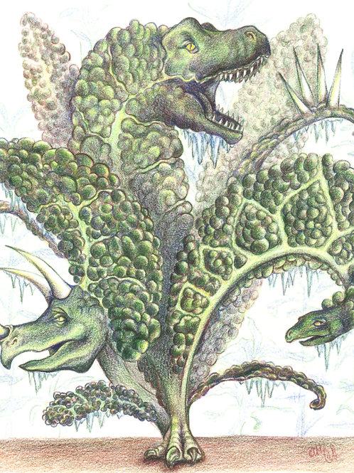 """8""""x10"""" Dinosaur Kale Print"""
