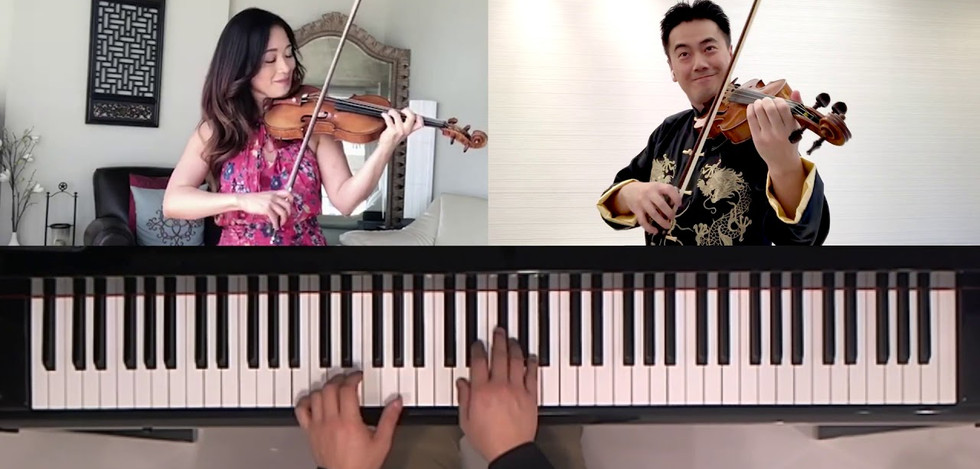 Chee-Yun, Jing Wang & Jonathan Tsay- Polka: Five Pieces for Two Violins & Piano by Shostakovitch