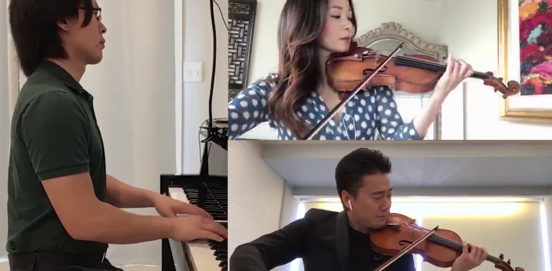 Chee-Yun, Jing Wang & Jonathan Tsay- Prelude: Five Pieces for Two Violins & Piano by Shostakovitch