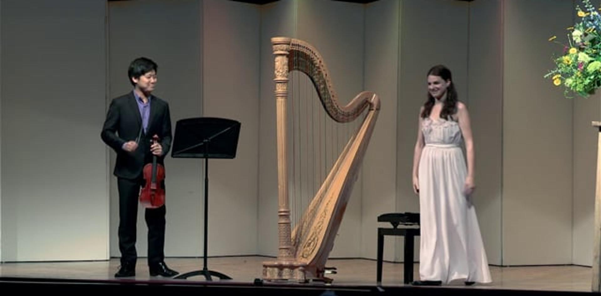 Bridget Kibbey and Siwoo Kim play J.S. Bach: BWV 1020 I. Allegro
