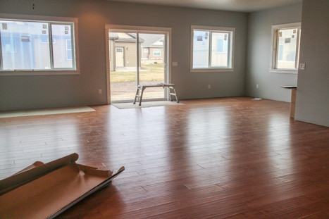 hardwood floors in new home construction