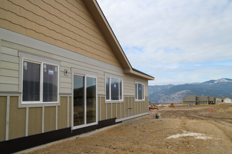 mountain view from new home construction site in missoula