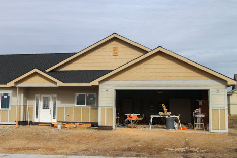 garage on new home in missoula