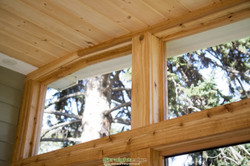 Wooden ceiling and framing