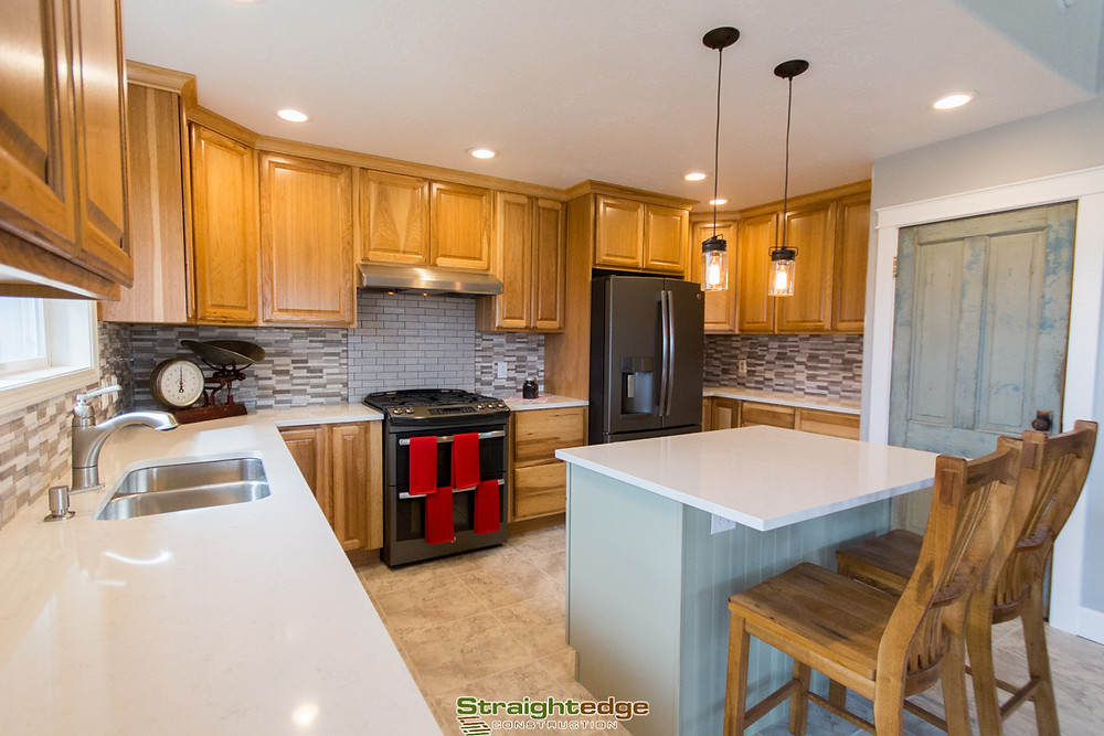 Kitchen remodel performed by Straightedge Construction in Missoula