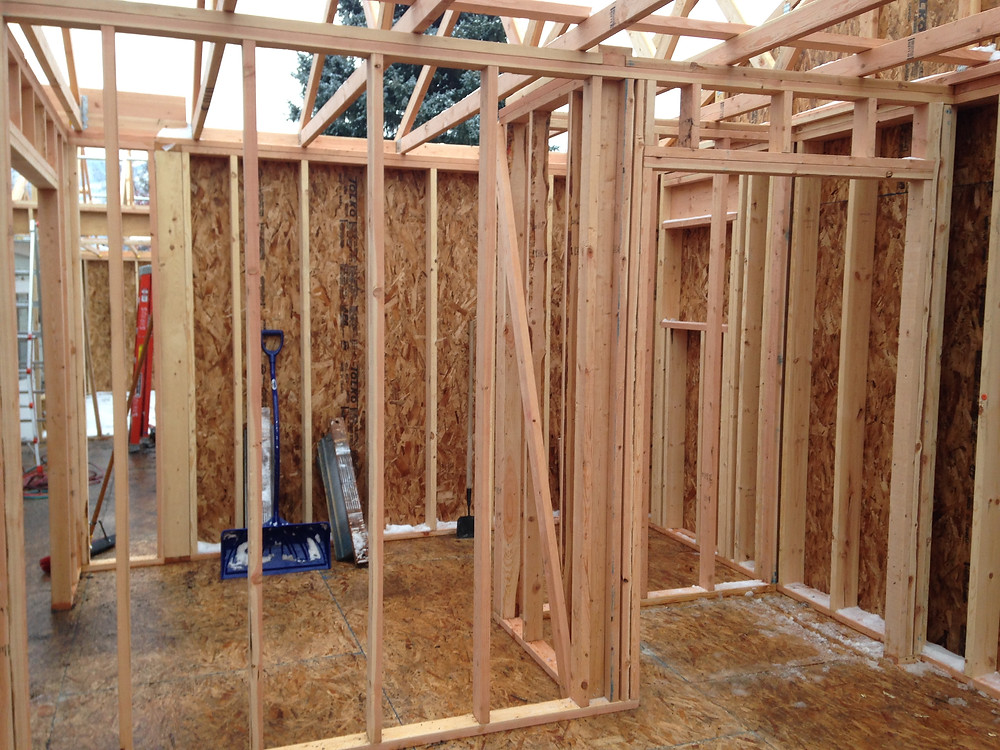 framing of new home addition in Missoula