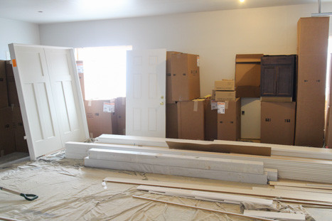 cabinets and doors to be installed in new missoula home