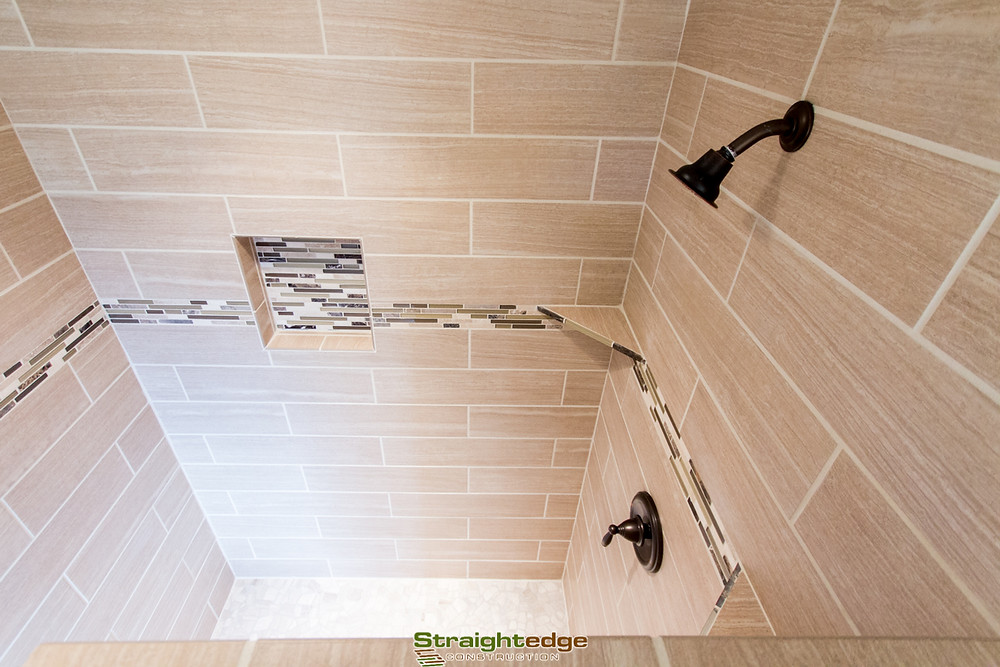 tiled shower built by Straightedge construction