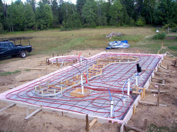 radiant floor heating in Missoula new home construction project