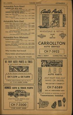 1960s Ads Carrollton Texas