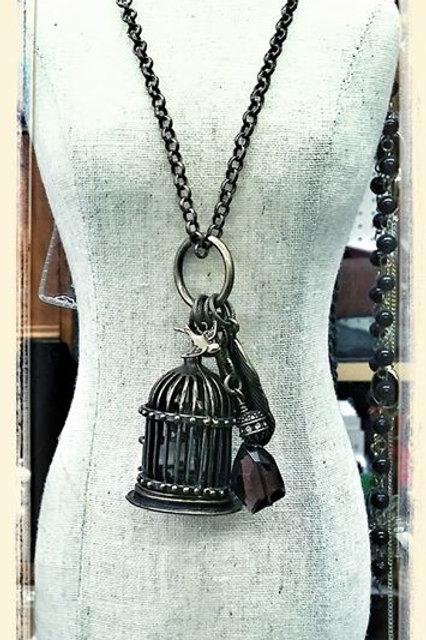 Unique Birdcage necklace