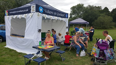 Uckers ya @uckers stall at a Summer show