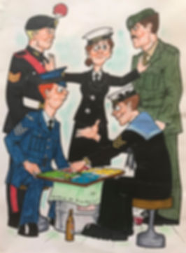 Tri-Service Uckers ya Uckers Cartoon