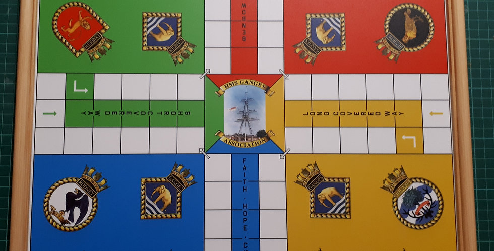 HMS Ganges Uckers Board