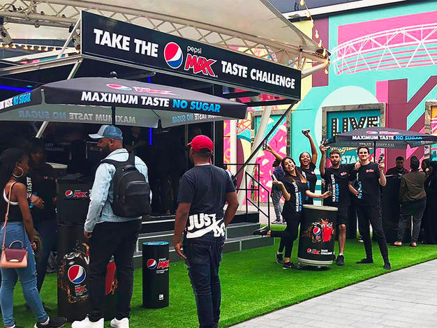 Managing over 100 retail space locations per year for Pepsi's taste challenge