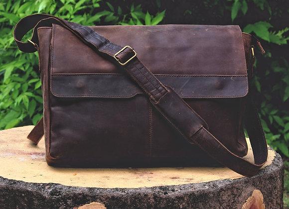 Black Messenger and Laptop bag