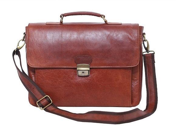 Front Buckle Dark Brown Office Bag