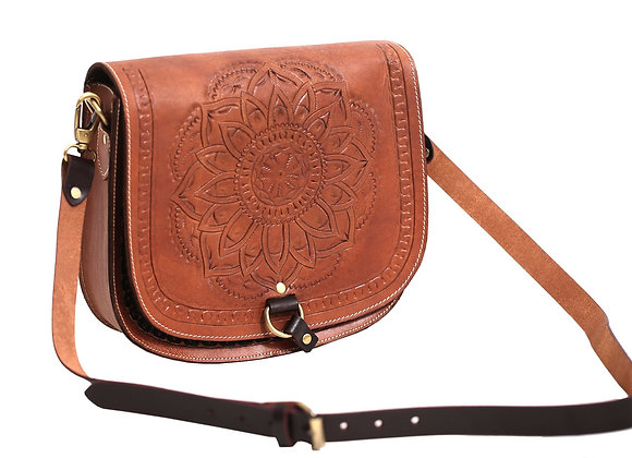 Embossed Mandala Design Tote Bag