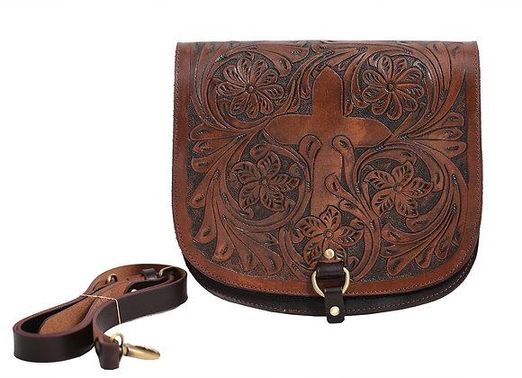 Embossed, Dark Brown Tote Bag