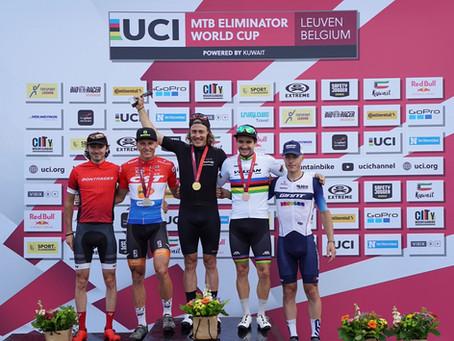Der deutsche Simon Gegenheimer siegt beim Mountainbike Weltcup in Belgien