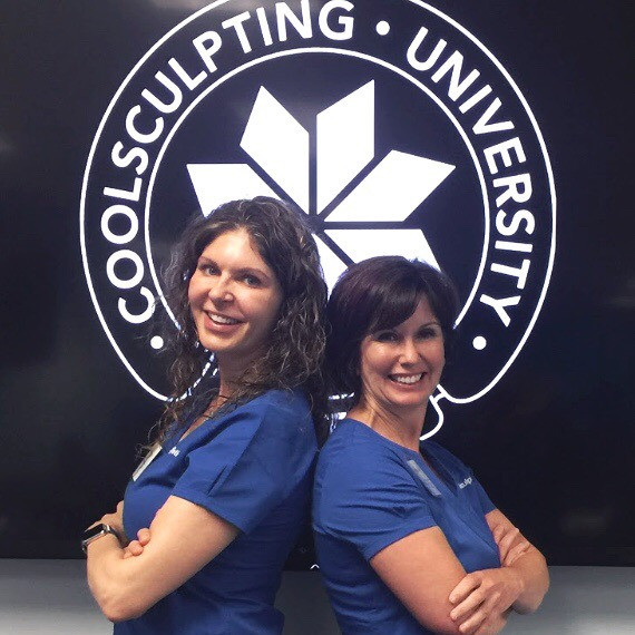 Julie and Wendy at Coolsculpting University