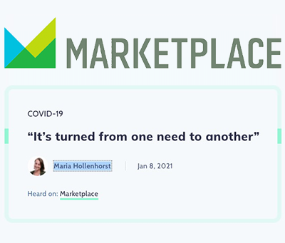 "Marketplace: ""It's turned from one need to another"""
