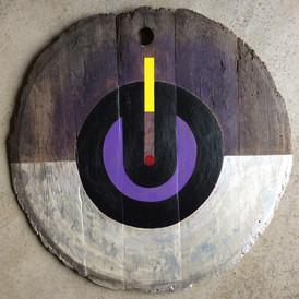 Acrylic on bottom of barrel, 2015
