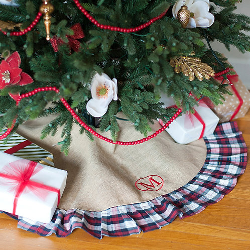 Winter Plaid Tree Skirt
